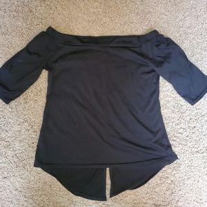 Tops - *4/$20* Off Shoulder Short Sleeve Top Black